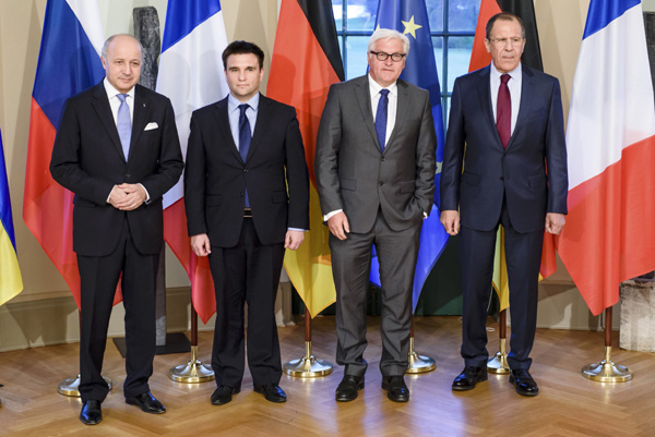 Foreign ministers call for end to fighting in east Ukraine