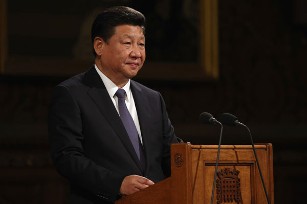 Xi tells UK parliament of 'first achievements' in relations