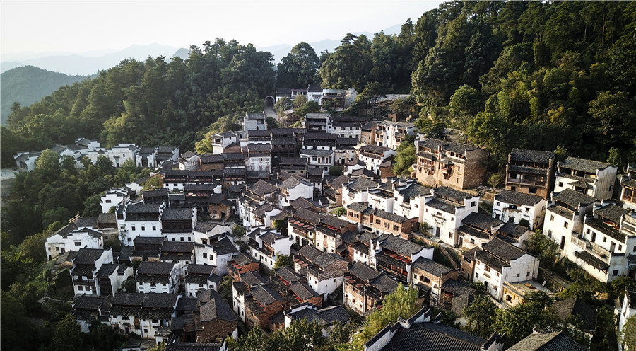 Legends of fall in mountains of Wuyuan town