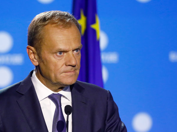 EU's Tusk sees next Brexit step this year