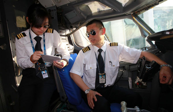 Chinese airline features first father