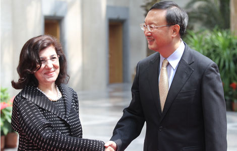 Chinese FM meets Syrian president's special envoy
