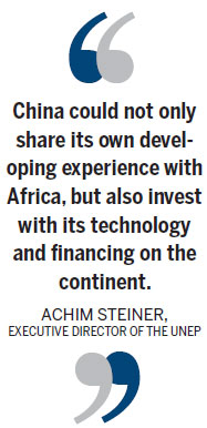 China 'should help Africa go green'