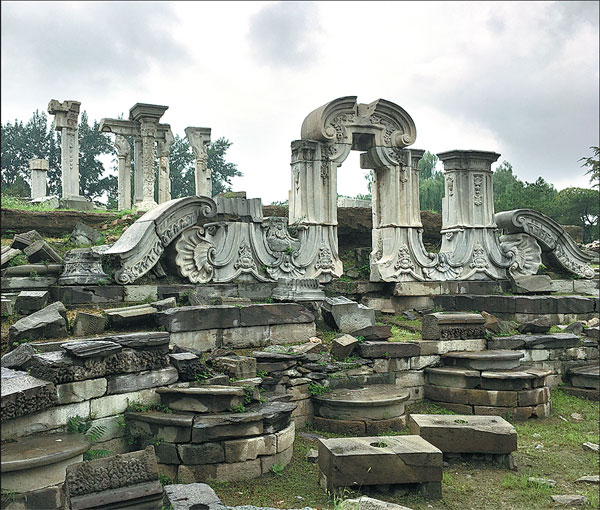 remains of western style architecture in yuanmingyuan wang kaihao china daily