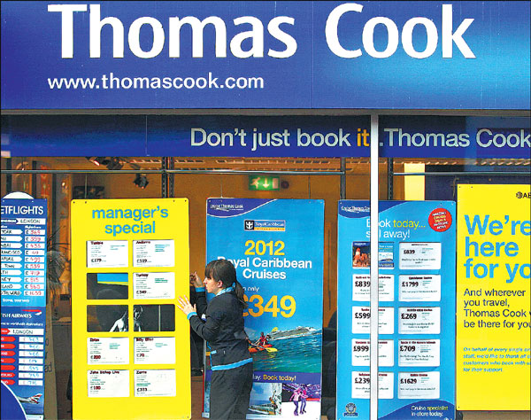 Httpwww Overlordsofchaos Comhtmlorigin Of The Word Jew Html: A Worker Changes The Window Display Of Thomas Cook In