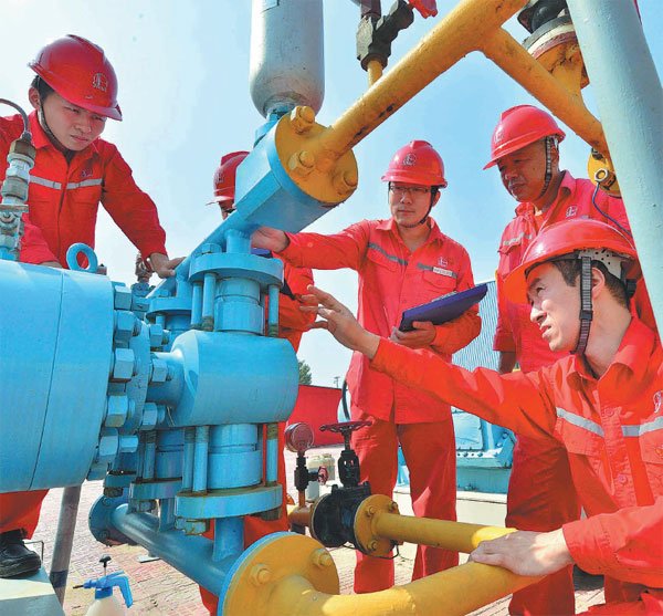 City Wide Auto Credit >> technicians from sinopec check oil storage facilities in puyang henan province tong jiang for ...